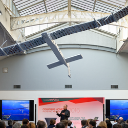 Bertrand Piccard, the pilot of the Solar Impulse airplane was the guest of honour of the Novethic Annual Event